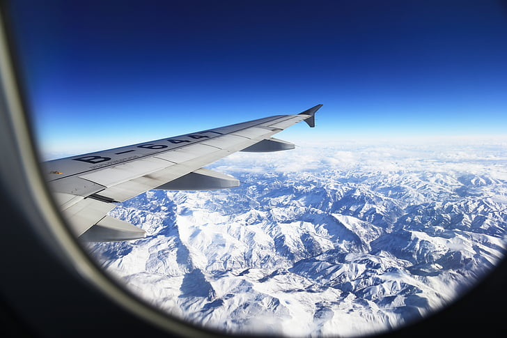 Tibet, altiplà, muntanya de neu, muntanyes, aeronaus, Windows, ala