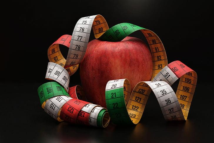 Poma, cinta mètrica, treure, fruita, dieta, Declaració de guerra, mesura