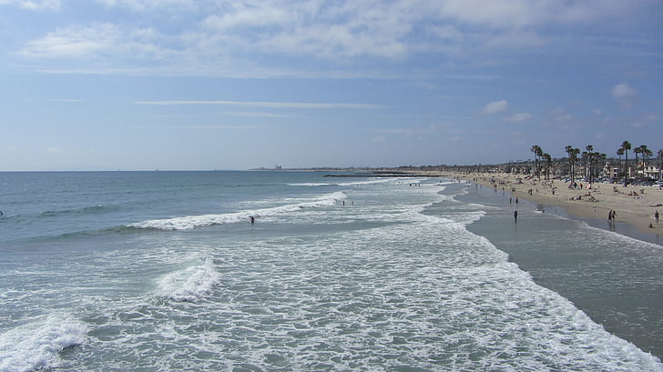 newpoort beach, plaj, Los angeles
