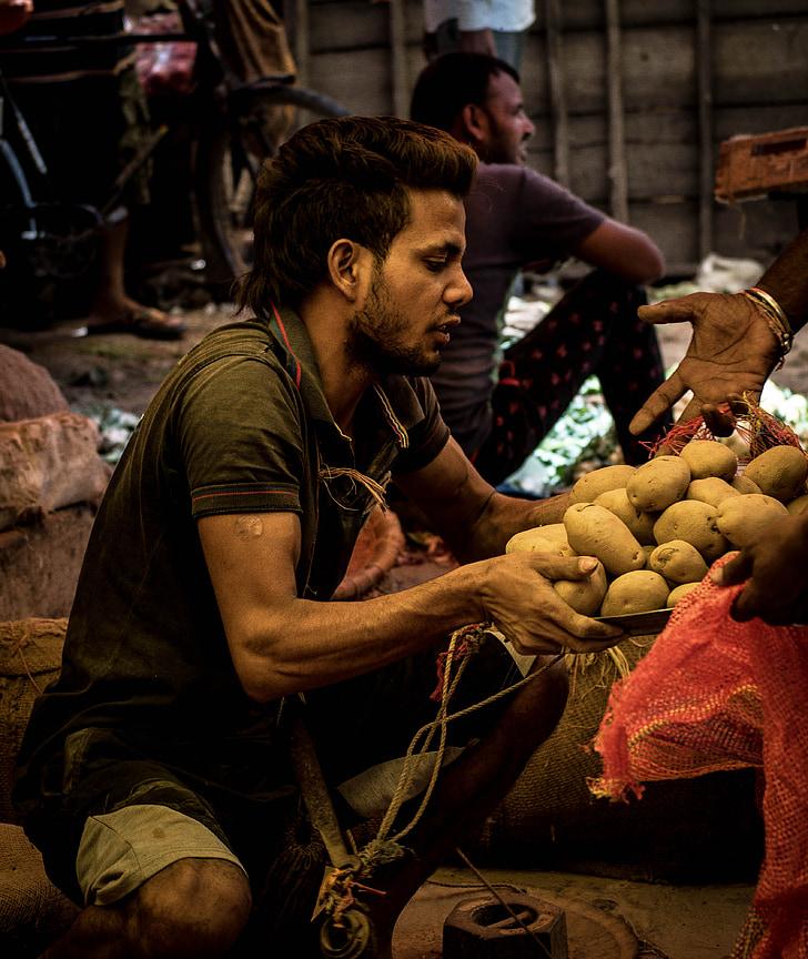 mercat, patata, Sa, aliments, vegetals, crua, natural