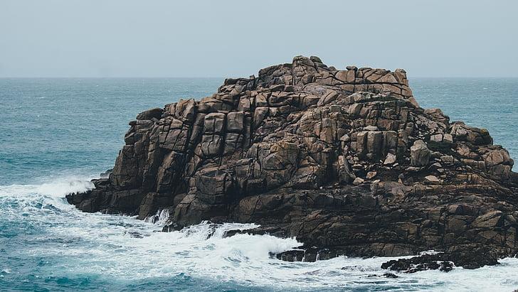 Ocean, kivimuodostelma, Rocks, Sea, vesi, aallot
