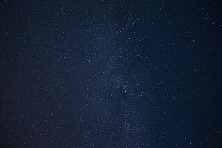 cel, estrelles, blau, nit, paisatge, làctics, el camí