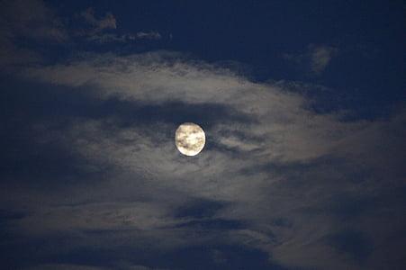 φεγγάρι, Πανσέληνος, φως του φεγγαριού, διανυκτέρευση, ουρανός, το βράδυ, ατμόσφαιρα