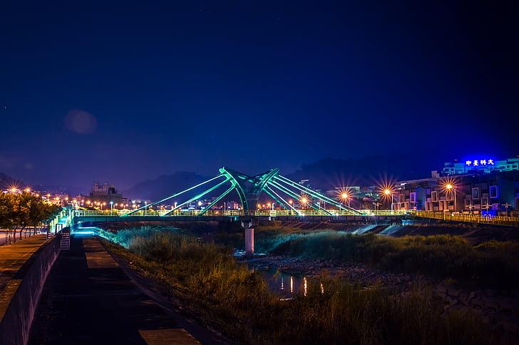 nattvisning, Bridge, skugga