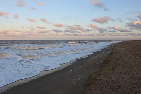 παραλία, στη θάλασσα, Ωκεανός, νερό, σύννεφο, Θαλασσογραφία, ακτογραμμή