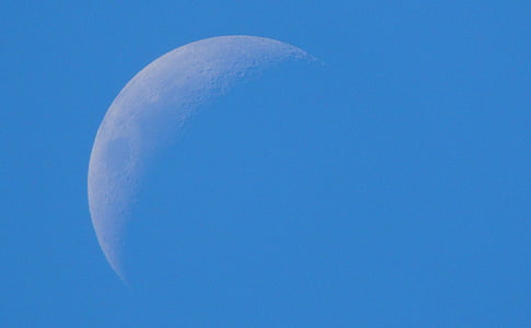 Mond, Tag, Himmel, tagsüber