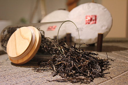 tea, tea cake, leaf tea, black tea, wood - Material