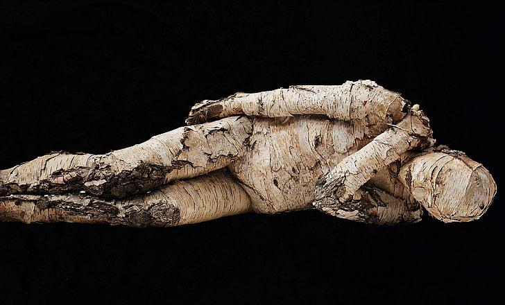 Laki-laki, Laki-laki pohon, kayu, bierke, karya seni, seni, keprihatinan