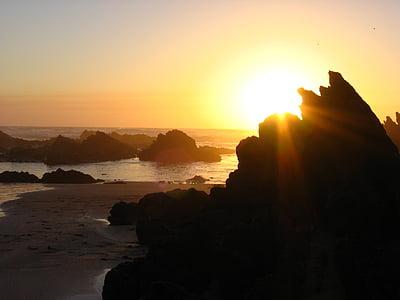일몰, 바다, abendstimmung, 저녁 하늘, 비치, 석양, 태양