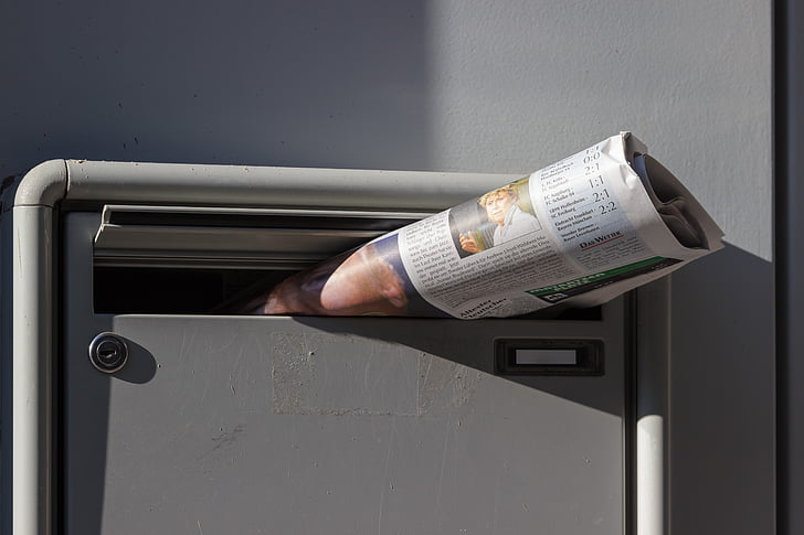 newspaper, newspaper delivery, mailbox, morning, news, post, inform