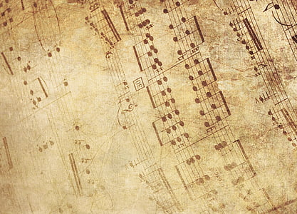 fons, antiquat, música, partitures, notenblatt, fons antic, en blanc