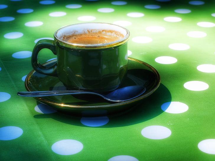 Espresso, kohvi, Cup, kohvi juua, roheline, Kofeiin, Break