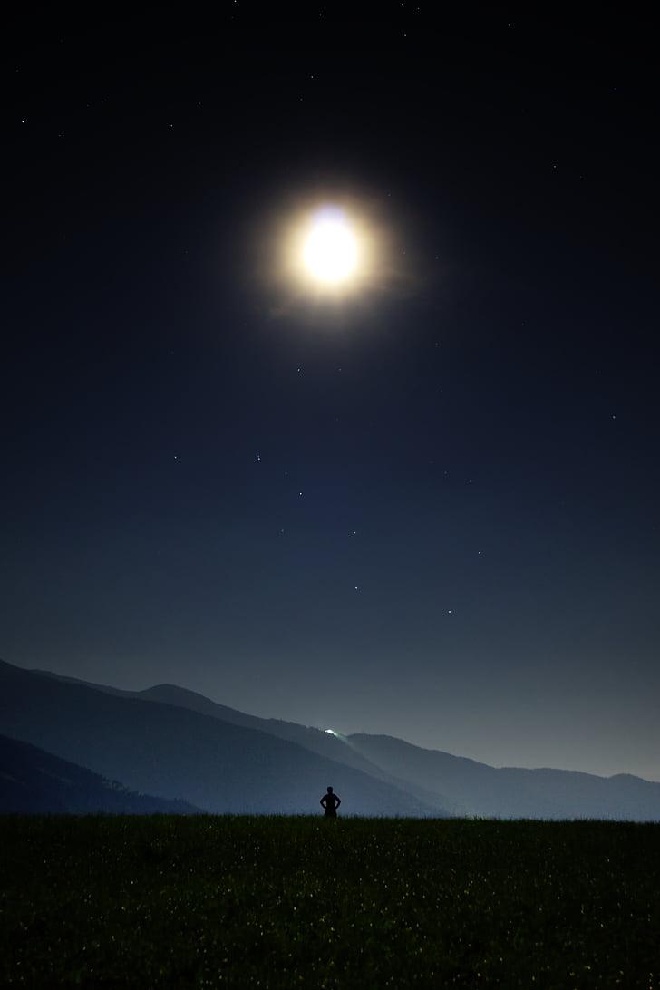 öö, Star, Moon, suur Baar, inimese, universumi, Tähine taevas
