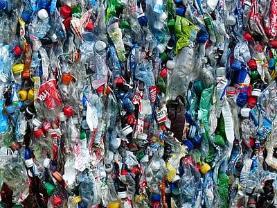 塑料瓶, 瓶, 回收, 环境保护, 电路, 垃圾, 塑料