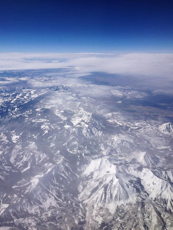 ภูเขา, มุมมองทางอากาศ, ภูมิทัศน์, เทือกเขา, โลก