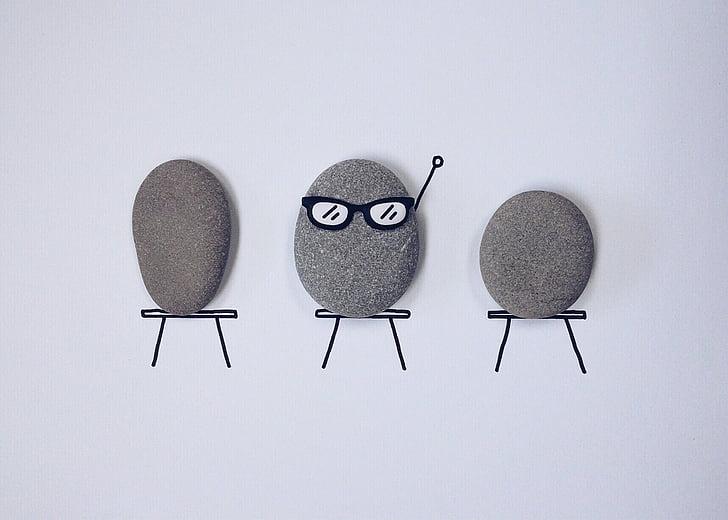 escola, classe, alunos, rocha, arte