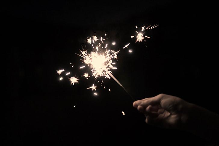 sparkler, Star brann, sprühkerze, injeksjon stearinlys, Star sprut, Star thrower, Star pucker