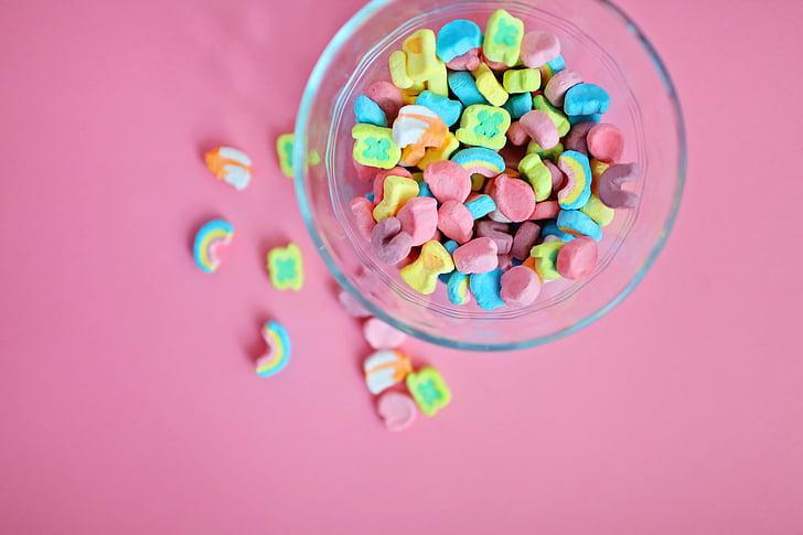 resum, Art, bol, brillant, dolços, bol de cereals, color