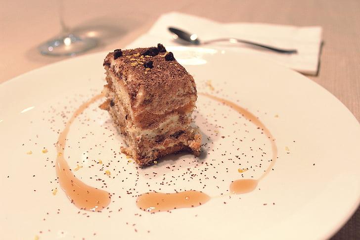 Tiramisu, sobremesa, doce, chocolate, bolo, biscoito, delicioso