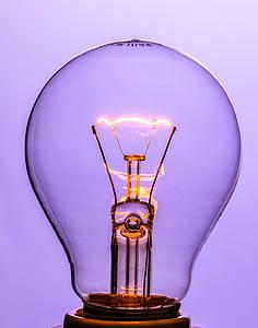 på, bränna, ljus, glöd lampa, omedelbart, Volfram, ljuskällan