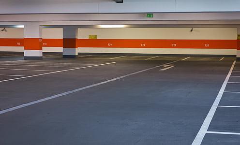 aparcament multi plantes, Parc, plana, nivell de Parc, aparcament, nombre, espai alternatiu