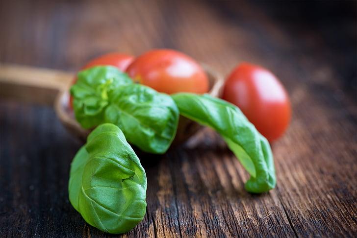 bosiljak, zelena, začin, biljka, bilje, hrana, jesti