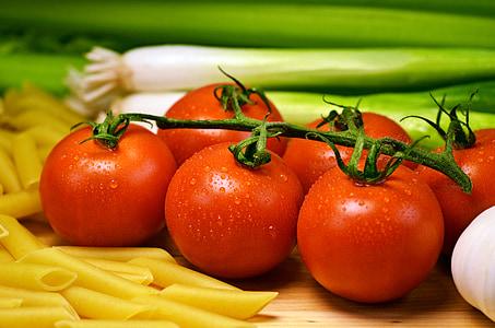 grøntsager, frisk, tomater, friske grøntsager, mad, rød, sund