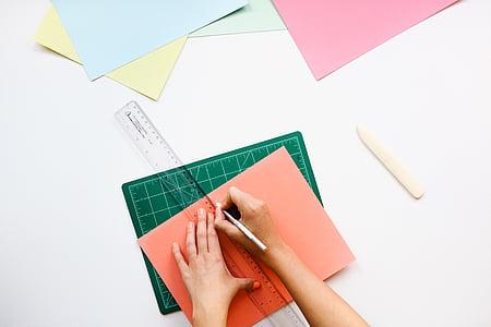 arkitekt, beräkning av, konceptet, design, skrivbord, ritning, matematik