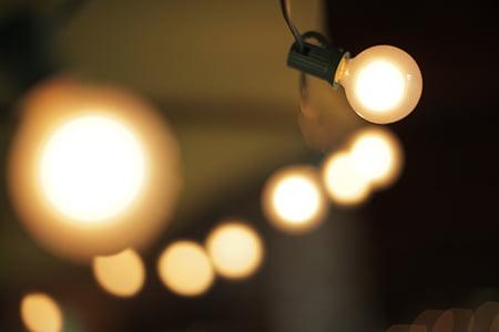 Licht, Lampe, Lichterkette, Glühbirne, Strom, Energie, Idee