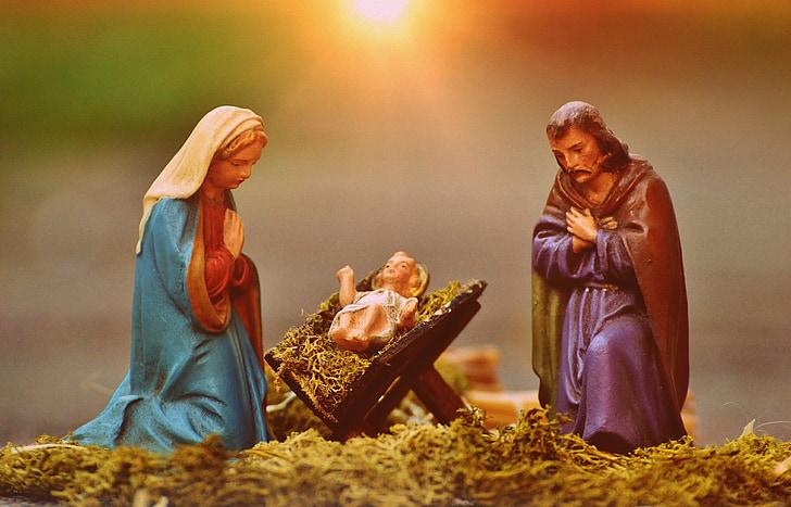 Free Slika Božićne Jasle Figure Marija I Josip Isus