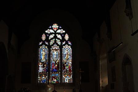 vitralls, vidre, fotografia, arquitectura, edifici, estructura, l'església
