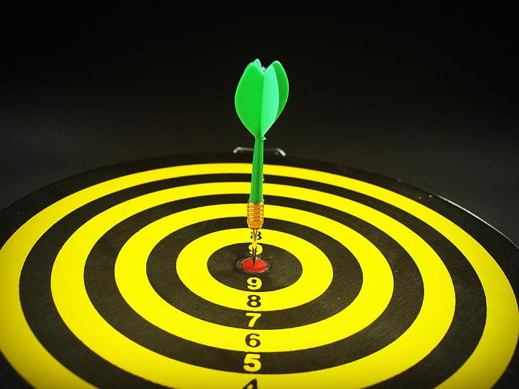 précision, réaliser, réalisation, objectif, visant, flèche, noir