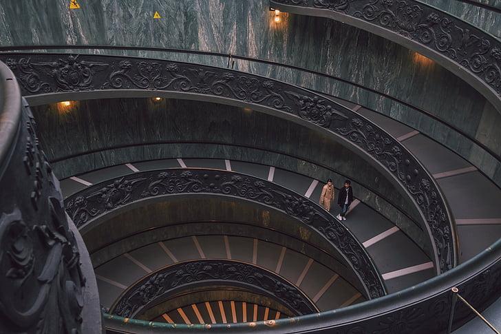 arhitektuur, hoone, infrastruktuuri, Vatikani, Muuseumid, Vatikani muuseumid, spiraal