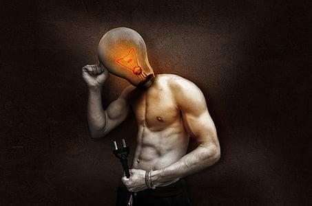 bombeta, actual, llum, resplendor, llum resplendor, filament, energia