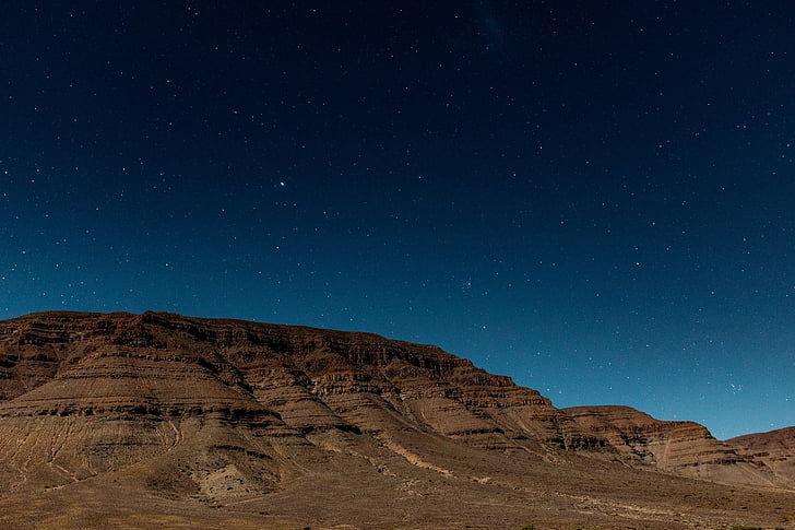 paisatge, tir, altiplà, nit, muntanya, turó, Highland
