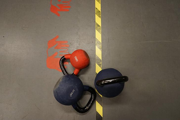 sarkana, hanteles, apmācības, Silver, sporta, spēkā, mīdijas