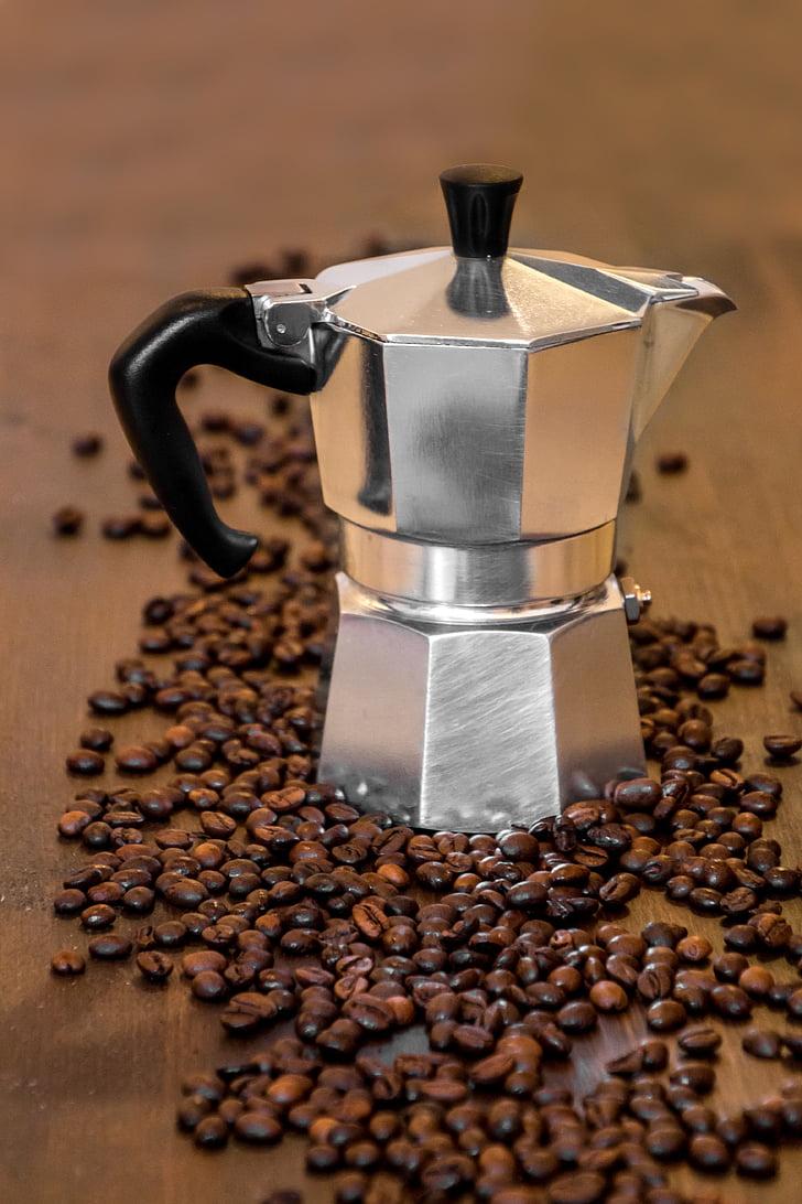 cafè, te, antic cafè, màquina de cafè italians, fer cafè, Itàlia, esmorzar