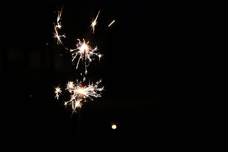 sparkler, night, light, radio, dark, romance, mood