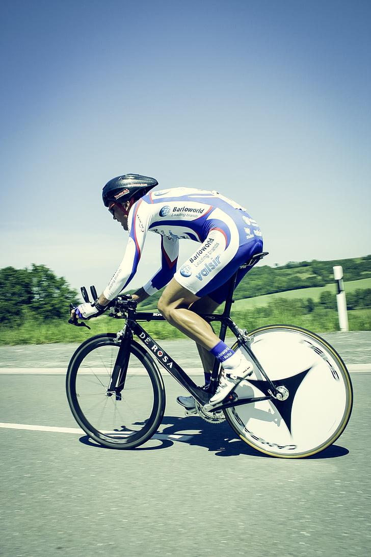 bicicletes, bicicleta, Ciclisme, ciclista, home, persona, carreres
