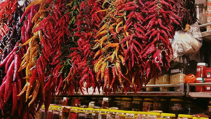 de Xile, bitxo, pebre, aliments, Xile, picant, vermell