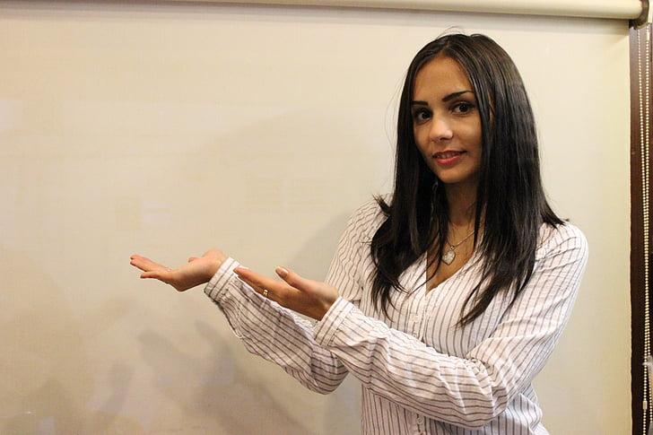 presentation, model, bella, women