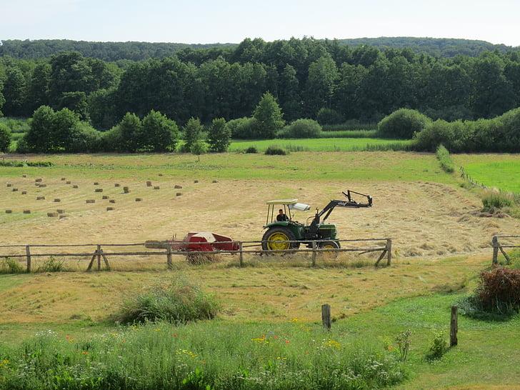 treball de camp, tractor, l'agricultura, camp, tuds, terres de conreu, pomology