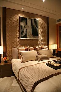 real estate, sample room, hainan, bedroom, bed, luxury, indoors
