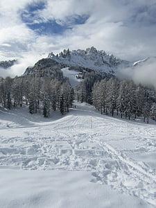 dolomites, mountains, mountain landscape, clouds