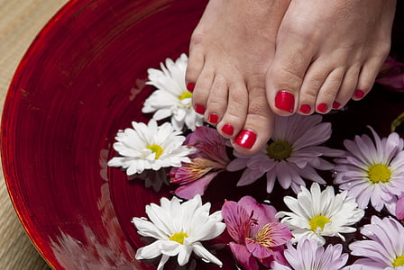 foot, pedicure, spa, woman, feet, treatment, relaxation