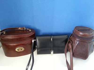袋, 三, 时尚, 棕色, 黑色