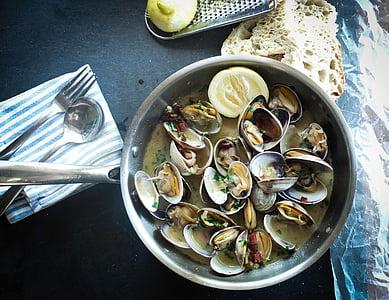 musslor, Cook, Matlagning, köket, maträtt, mat, måltid