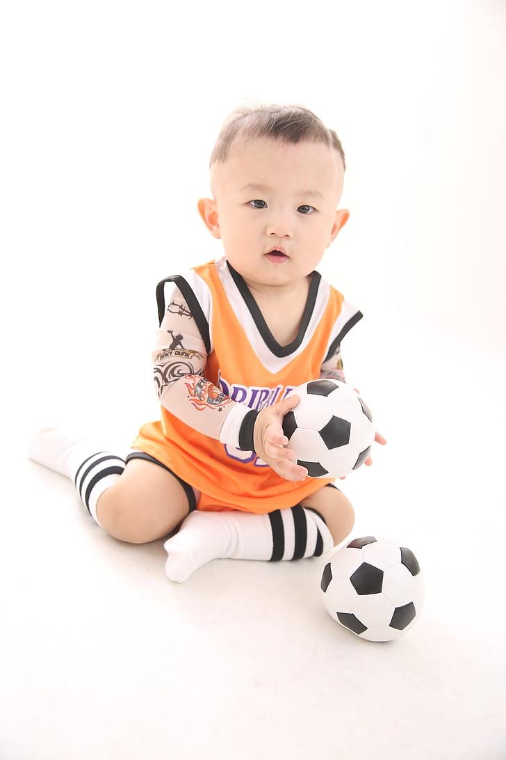 fútbol, bebé, cuidado de niños, baby fútbol, bebé niño, muchachos