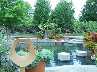 jardin zen, Japonais, Balance, détente, jardin, Zen, nature