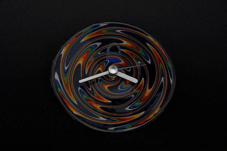 rellotge, art en vidre, vidre de rellotge, farbenspiel